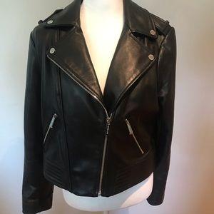 Michael Kors Leather Jacket Size L - NWOT